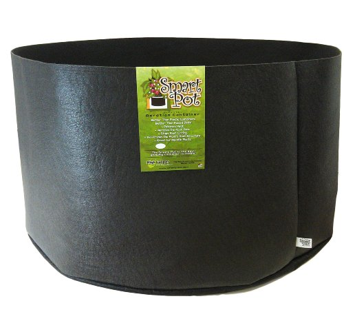 Smart Pots 200 Gallon Smart Pot Soft Sided Container  Black