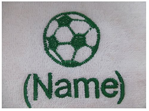 EFY Face Cloth, Hand Towel, Bath Towel or Bath Sheet Personalised with FOOTBALL logo and name of your choice (Face Cloth 30x30cm)