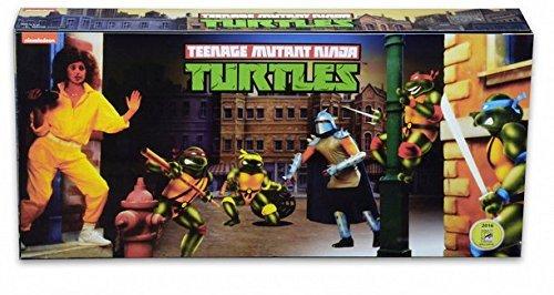 Teenage Mutant Ninja Turtles TMNT Arcade Game Hero Figure Set SDCC 2016 Exclusive (Neca Ninja Turtles compare prices)