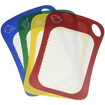 Amazon Com Flexible Plastic Cutting Board Set For Kitchen
