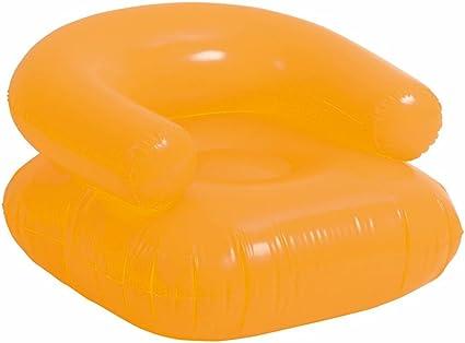 Lage Lounge Stoel.Amazon Com Ebuygb Inflatable Beach Lounge Chair Orange Toys Games
