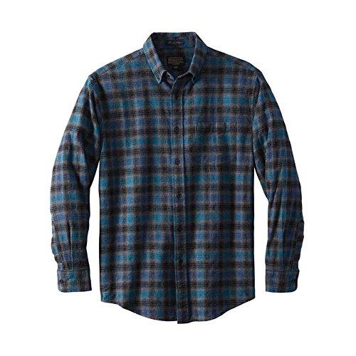 Pendleton Men's Lister Flannel Fitter Shirt Blue/Black Ombre Small