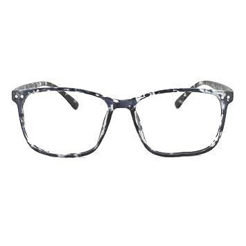 0af8613208 EyeBuyExpress Prescription Mens Womens Gloss Black White Tortoise Retro Reading  Glasses Anti Glare Quality Fashion only