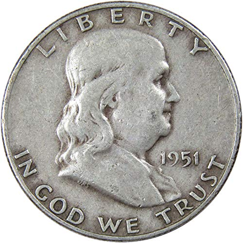 1951-D 50c Franklin Silver Half Dollar VF Very Fine ()