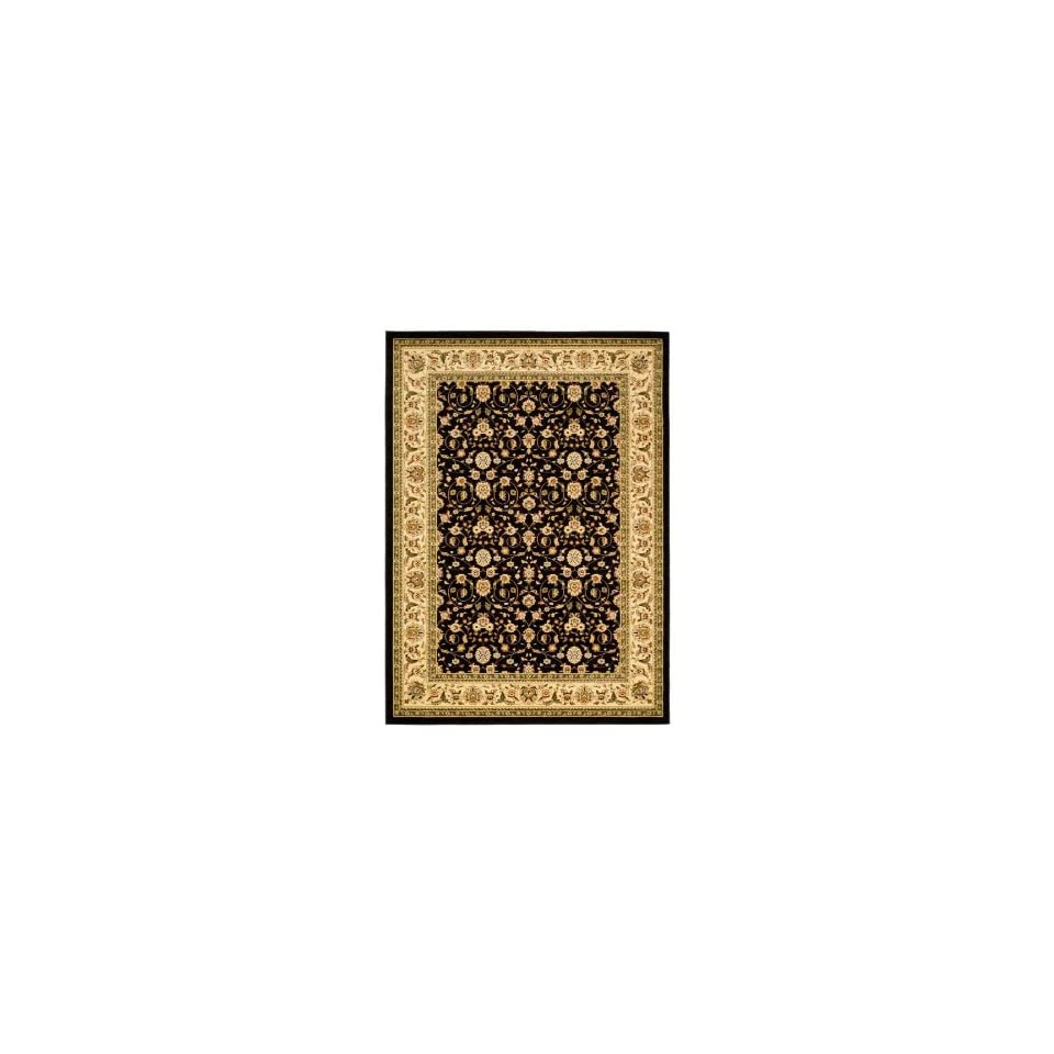 Safavieh Lyndhurst Collection LNH316B Black and Ivory Area Rug, 9 Feet by 12 Feet