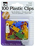 Charles Leonard Small Plastic Paper Clips, Assorted