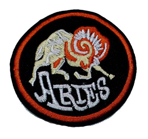 InspireMe Family Owned Aries Zodiac Sew/Iron-on Patch/Applique 3