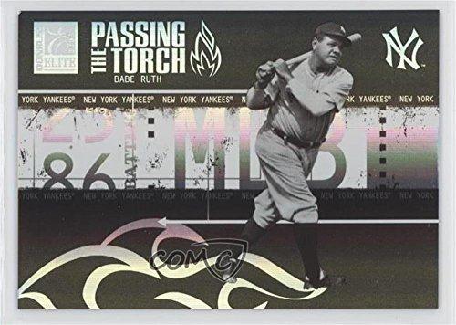 Babe Ruth #4/50 (Baseball Card) 2005 Donruss Elite - Passing the Torch - Black #PT-5 ()