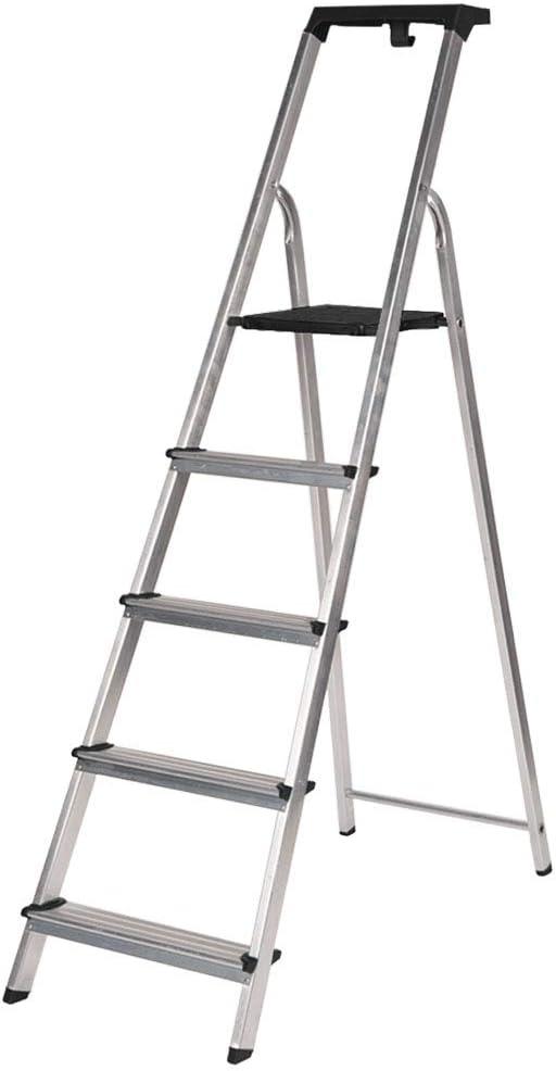 Escalera Pregable Aluminio (Aluminio, 5 Peldaños)
