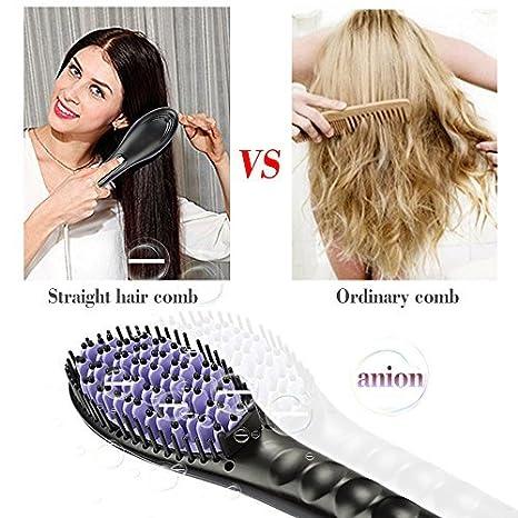 Besmall Alisador de Pelo Cepillo,Cepillo de pelo eléctrico automático profesional para enderezar pelo, con pantalla LCD: Amazon.es: Belleza