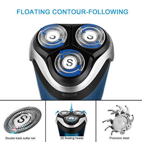 SweetLF 3D Rechargeable 100% Waterproof IPX7 Electric Shaver Wet & Dry Rotary Shavers for Men Electr - http://coolthings.us
