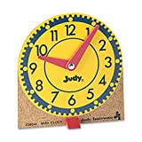 Carson-Dellosa 0768223202 Learning Clocks Set Mini Moveable Hands Wood Base 12/ST