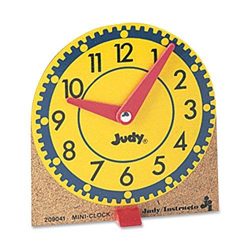 Carson-Dellosa 0768223202 Learning Clocks Set Mini Moveable Hands Wood Base 12/ST by Carson-Dellosa