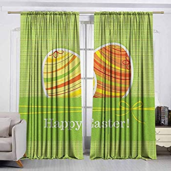 Image of AndyTours Outdoor Patio Curtains,Easter,Drapes for Bedroom,W108x108L Inches Multicolor