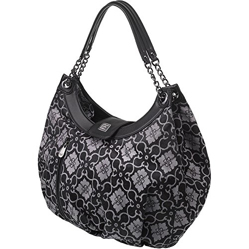Petunia Pickle Bottom Hideaway Hobo Diaper Bag in London Mist Hide Hobo