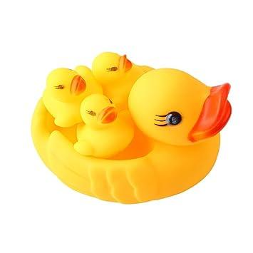 Rubber Duck Family Bath Set (Set Of 4)   Floating Bath Tub Toy (
