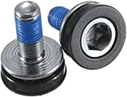 A Pair of Crank Bolts Square Tapered Bottom Bike Bicycle Cycling Chainwheel Axle