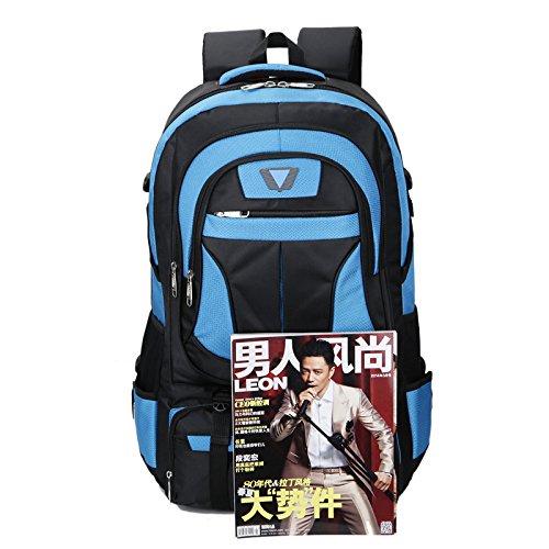 Mountaineering Bag Outdoor Männer und Frauen Schulter Rucksack große Kapazität Wanderpackage Bergsteigen Taschen , orange rot