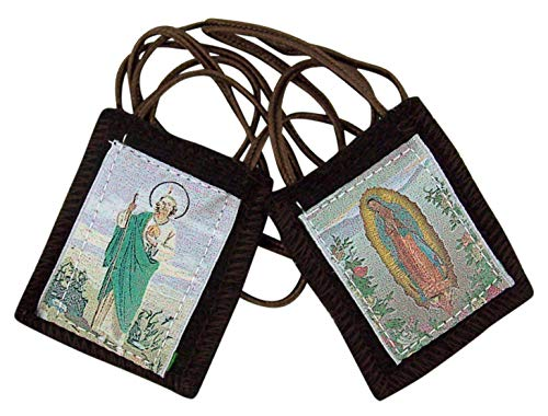 Needzo Genuine Wool Brown Saint Jude Holy Scapular ()