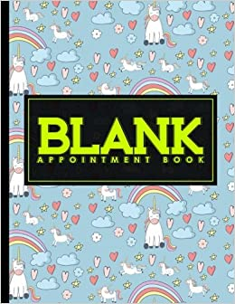 blank appointment book 7 columns appointment journal appointment