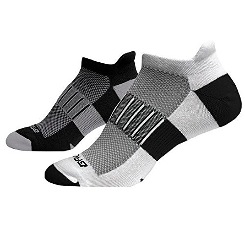 Brooks Ghost Midweight Running Socks - 2 Pack Size Large