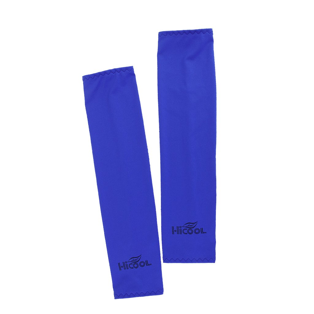 1 Pair Sports Arm Cooler Arm Cover Arm Sleeves for UV Sun Protection--Dark Blue Generic