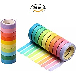 Decorative Washi Tapes, 20 Rolls