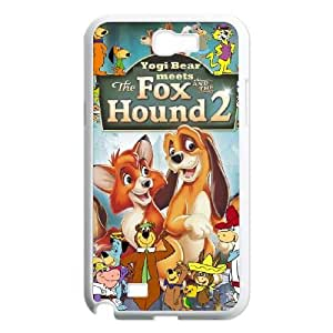 Samsung Galaxy Note 2 N7100 Phone Case White Fox and the Hound 2 MG674143