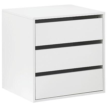 Cassettiera interno armadio 3 cassetti autoportante cm L58 colore ...
