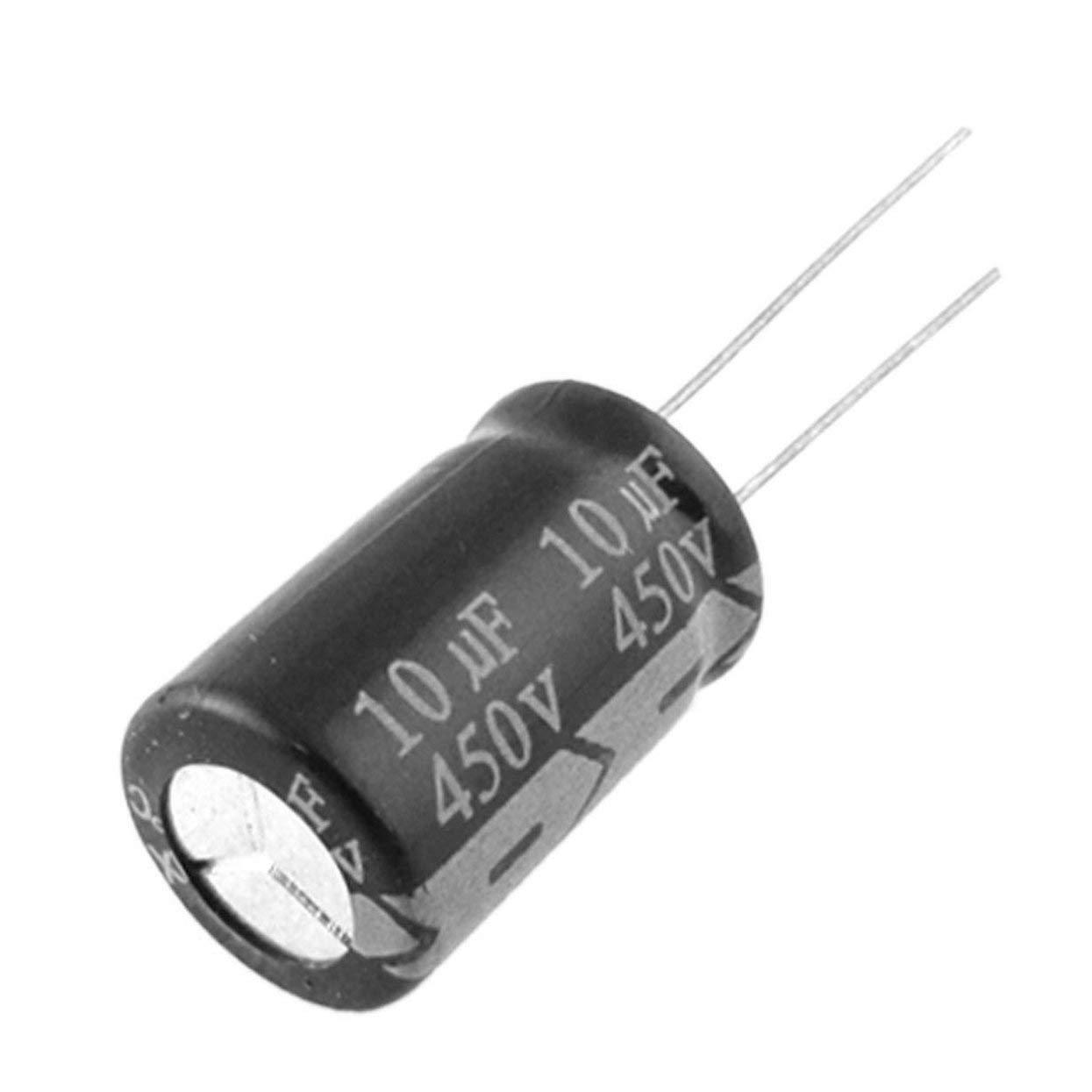 Tellaboull for 2Pcs Condensateurs électrolytiques 450V 10uF HIGT Qualité 10UF 450V Condensateur