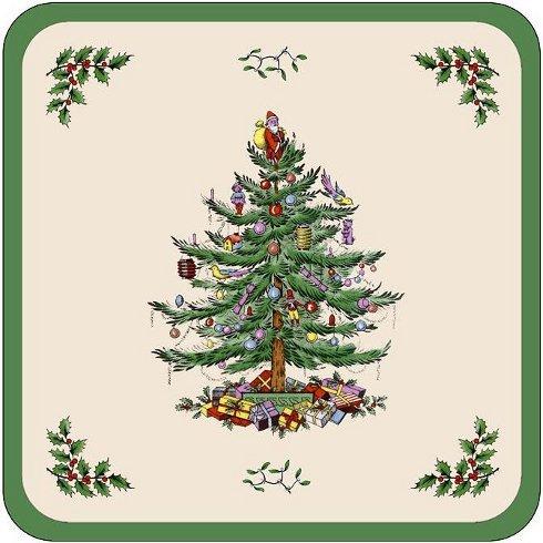 (Spode Christmas Tree Coasters (Box of)