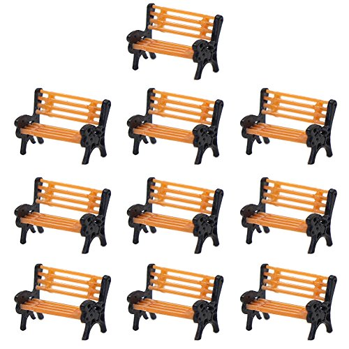 YZ150 10pcs Park Benches Model Train 1:150 Bench Chair Settee N Z Railway Layout New