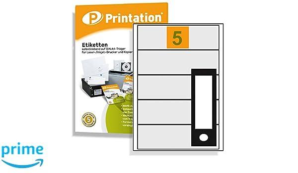 Archivadores etiquetas 190 x 58 mm, autoadhesiva, color blanco 500 carpeta etiquetas en 100 DIN A4 arco 1 x 5 Labels 190 x 58: Amazon.es: Oficina y ...
