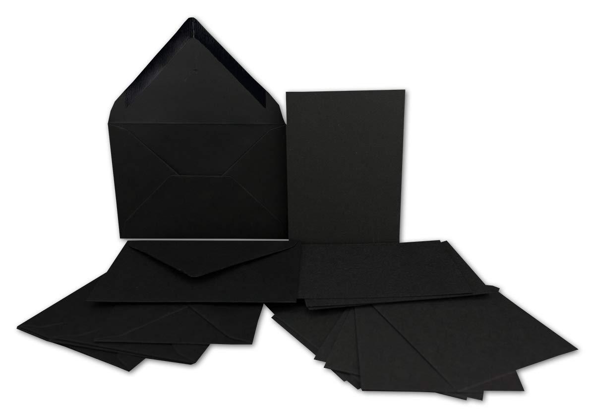 200x Stück Karte-Umschlag-Set Einzel-Karten Din A7 10,5x7,3 cm 240 g m² Dunkelgrün mit Brief-Umschlägen C7 Nassklebung ideale Geschenkanhänger B07MSCG5QH | Haltbarer Service