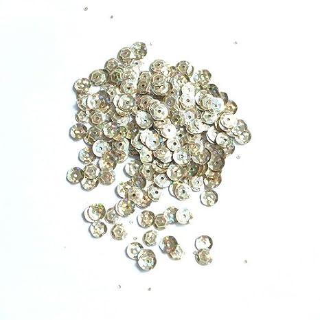SiDeSo/® 75g HOLO Pailletten 6mm metallic ca 5500 St/ück orange