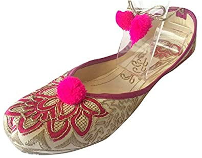 Step n Style Women's Khussa Shoes Lace Up Punjabi Jutti Ethnic Mojari Handmade Ballerina Shoes Casual Pumps DD269