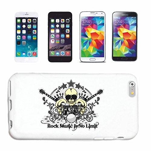"""cas de téléphone iPhone 7 """"ROCK MUSIC IS NO DRUMS GUITARE CRÂNE LUNETTES TECHNO JAZZ FUNKY SOUL TRANCE FESTIVAL HOUSE HIPHOP HIP HOP DJ LIMIT"""" Hard Case Cover Téléphone Covers Smart Cover pour Apple i"""