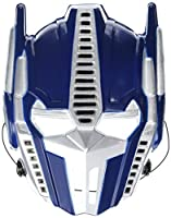 "Amscan Mighty Transformers Birthday Party VAC Form Mask Accessory, 9"" x 6 8/9"", Blue/White"