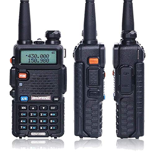 BaoFeng Walkie Talkie UV-5R Dual Band Two Way Radio with one more 1800mAh UV5R Battery one Hand Mic and one TIDRADIO NA-771 Antenna Baofeng Radio Ham radio