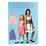 McCall Pattern Company M6880 Children's/Girls' Dresses and Sash Sewing Template, Size CHJ (7-8-10-12-14) offers