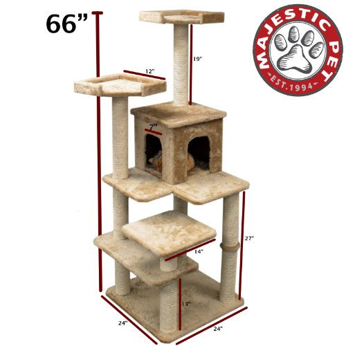 "66"" Casita Fur Cat Tree"