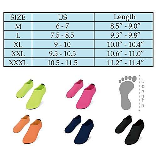 Nlife Barfuß Wasser Schuhe Aqua Socken für Beach Surf Pool schwimmen Yoga Aerobic (Männer & Frauen, M-XXL) Cyan