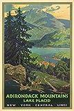 vintage advertisement - New York Central Lines - Adirondack Mountains - (artist: Greene, Walter L. c. 192) - Vintage Advertisement (9x12 Art Print, Wall Decor Travel Poster)