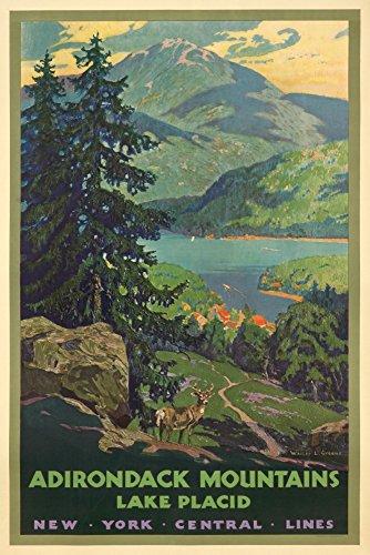 New York Central Lines - Adirondack Mountains - (artist: Greene, Walter L. c. 192) - Vintage Advertisement (9x12 Art Print, Wall Decor Travel Poster)
