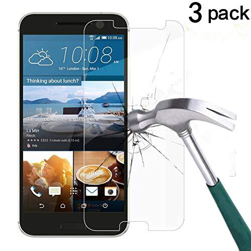 HTC 10 Screen Protector, TANTEK [Bubble-Free][HD-Clear][Anti-Scratch][Anti-Glare][Anti-Fingerprint] Tempered Glass Screen Protector for HTC 10 (One M10,One 10,M10)[2016],-[3Pack] (Best Tempered Glass Screen Protector For Htc 10)
