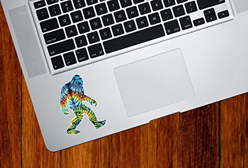 Rainbow Tie Dye Sasquatch - Laptop | Macbook | Computer | Trackpad - Vinyl Decal Sticker YYDC (Size Variations Available) (Small 2