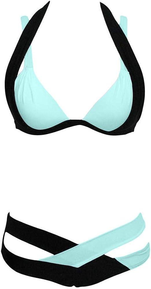 TOFOTL Damen Bikinis Badebekleidung Badeanz/üge Tankinis Hohe Taille gepolsterter Push-up Bikini-Set Badeanzug Strandkleidung