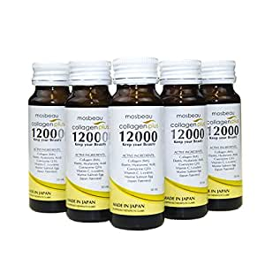 5 Bottles Authentic Mosbeau Collagen Plus 12000 - Anti-aging & Skin Whitening Drink
