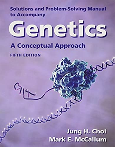 solutions manual for genetics a conceptual approach university rh amazon com