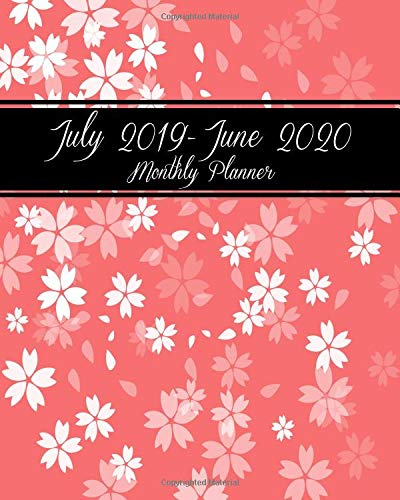 Pdf Arts July 2019-June 2020 Monthly Planner: Pink Floral, Daily/Weekly/Monthly/Yearly Calendar Book July 2019-June 2020 Journal, Large 8 x 10 Calendar ... With Holidays and inspirational Quotes